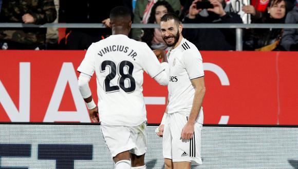 Vinicius Junior habló sobre el episodio polémica con Karim Benzema. (Foto: AFP)