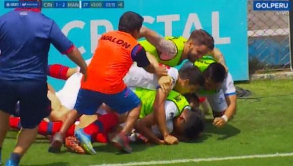 Cristal vs. Mannucci | El gol agónico de Relly Fernández tras un contragolpe al minuto 96 [VIDEO]