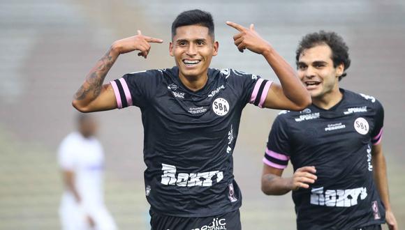 Diego Ramírez marcó un golazo de 'chalaca' en la victoria de Sport Boys ante Santos. (Foto: Liga 1)
