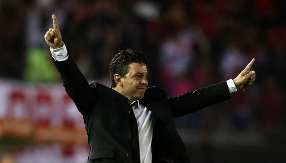 Así vivió Gallardo el partido de River Plate con Alianza Lima [VIDEO]