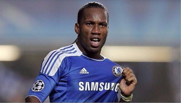 Didier Drogba brilló en la Premier League con la camiseta del Chelsea. (Foto: AFP)