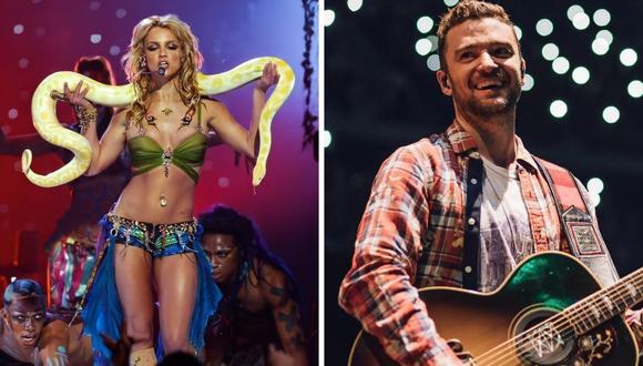 Britney Spears y Justin Timberlake tuvieron una relación a fines de la década de 1990 y principios de la de 2000. (Composición: Twitter @FILTERMexico / Instagram @justintimberlake)