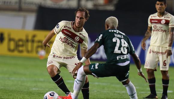 Luego de la derrota de Universitario ante Palmeiras, así quedaron los cremas en la tabla de posiciones del Grupo A.  (Foto: Universitario).