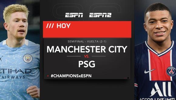 Manchester City vs. PSG EN VIVO | ONLINE el partido de vuelta por las semifinales de la Champions League en el Etihad Stadium