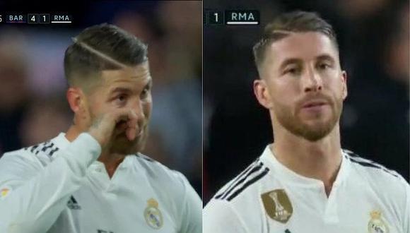 Sergio Ramos al borde del llanto tras el 5-1 de Arturo Vidal | VIDEO