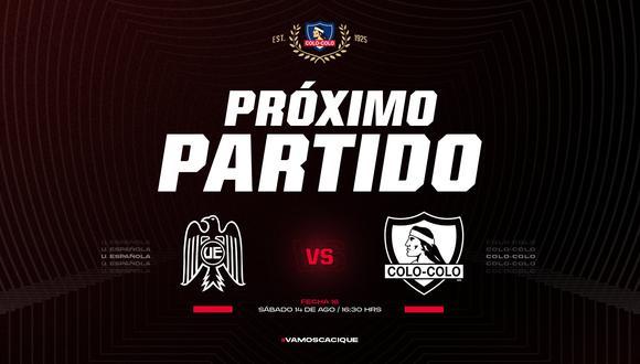 Colo Colo vs Unión Española en vivo se verán las caras por la fecha 15 del torneo chileno. Sigue todos los detalles del partido aquí.
