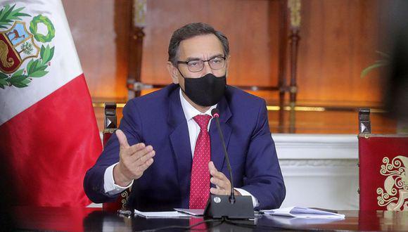 El presidente Martín Vizcarra pidió a las autoridades locales trabajar juntos contra el coronavirus. (Foto: Presidencia)