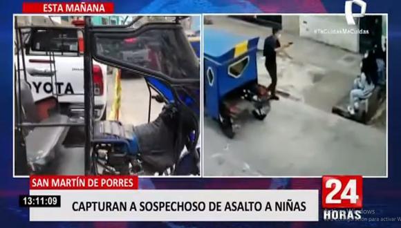 El robo de celulares a las niñas ocurrió en la cuadra 36 del jirón Puno, en San Martín de Porres. (24 Horas)