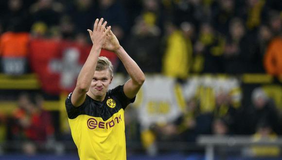 Erling Haaland llegó a Borussia Dortmund a inicios del 2020 (Foto: AFP)