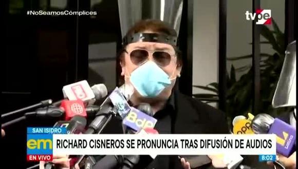 El cantante Richard Cisneros anunció que denunciará al legislador Edgar Alarcón, quien divulgó audios de conversaciones del presidente Martín Vizcarra y su entorno.