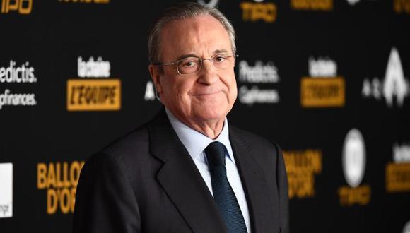 Florentino Pérez, presidente de Real Madrid, dio negativo a las últimas pruebas de coronavirus. (Foto: AFP)