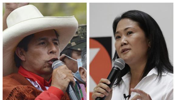 Keiko Fujimori acepta el reto de Castillo para debatir en Chota y le pide que no se corra para que todo el país pueda observarlos. (Fotos: Andina)