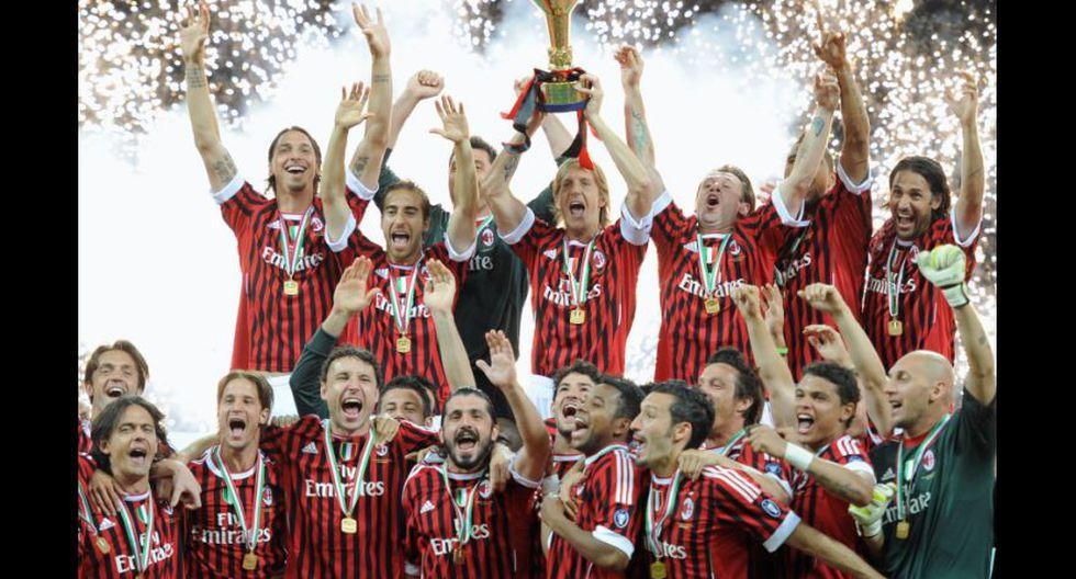 AC Milan se coronó campeón de la Serie A 2010-11 con 82 puntos, 6 más que el segundo Inter de Milán. (Foto: AFP)
