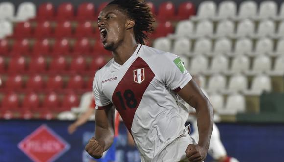André Carrillo fue una de las figuras de la Blanquirroja en la Copa América Brasil 2021. (Foto: AFP)