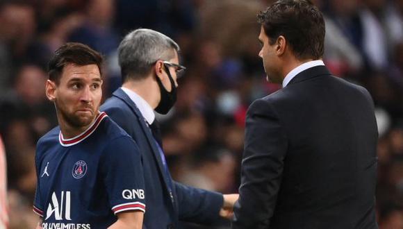 Lionel Messi fue cambiado a los 76 minutos y dejó su lugar a Achraf Hakimi. (Foto: AFP)