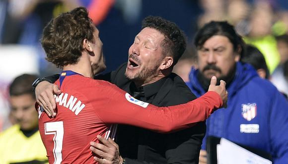 Griezmann desató su mejor versión en el Atlético bajo las órdenes de Diego Simeone. (Foto: AFP)