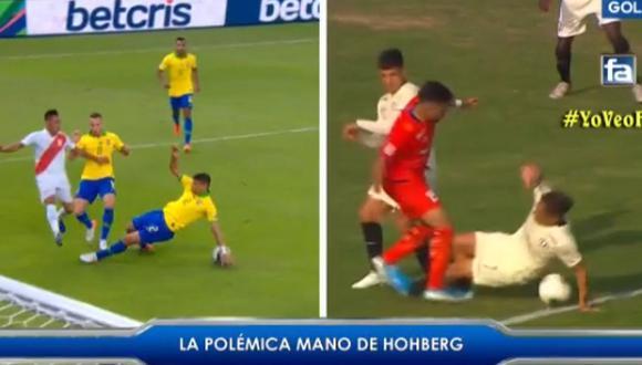 Universitario   Comparan mano de Hohberg con la de Thiago Silva en la final de Copa América entre Perú y Brasil   VIDEO