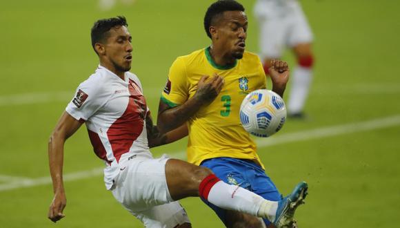 Perú y Brasil jugaron por la fecha triple de Eliminatorias Qatar 2022. | Foto: GEC