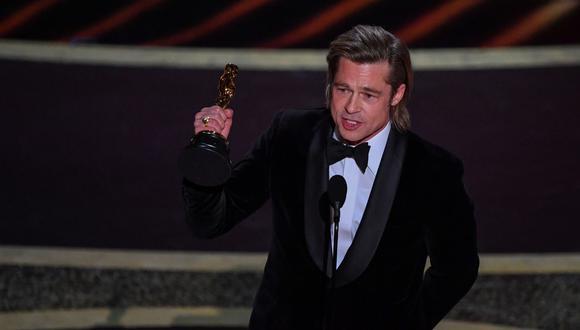 Oscar 2020: Brad Pitt ganó la estatuilla como Mejor actor de reparto. (Foto: AFP)