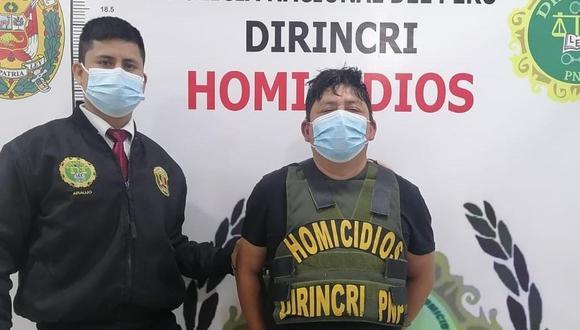 Richard Mendieta (39), sindicado de secuestrar y matar a un hombre en julio pasado, fue capturado por la Policía. (Foto:PNP)