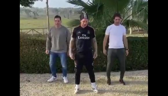 Youtube Sergio Ramos Demostró Sus Habilidades Para El Baile Al Ritmo Del Maletero Tubo De Escape Video Instagram Nczd Internacional El Bocón