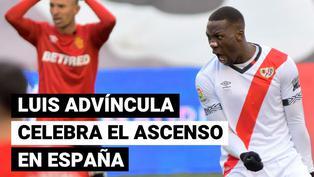 Advíncula ascendió con Rayo Vallecano a la primera división de España