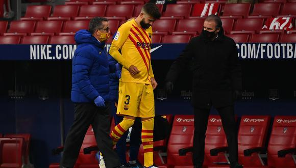 Barcelona confirmó la lesión de Gerard Piqué. (Foto: AFP)