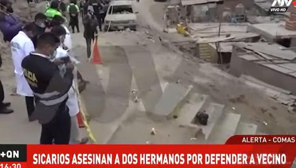 Uno de los hermanos Rojas Grados falleció en el lugar, mientras que otro murió en el trayecto al hospital Sergio Bernales de Collique, en Comas. (Foto: ATV+)