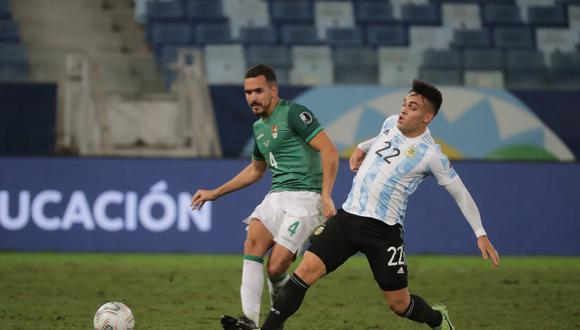 Lautaro Martínez quedó fuera del Argentina vs. Paraguay de las Eliminatorias. (Foto: EFE)