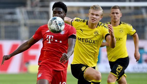 Alphonso Davies fue titular y jugó todo el partido ante Borussia Dortmund. (Foto: AFP)
