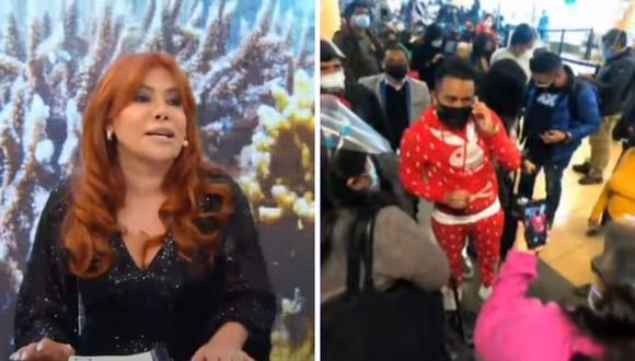 Magaly Medina criticó el estilo de Christian Cueva al vestirse y señaló que se compra lo que nadie quiere de las marcas. (Foto: Captura ATV).