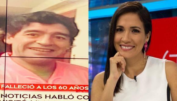 Alvina Ruíz contó más detalles de lo que fue su encuentro con Maradona en el 2006. FOTO: Composición/Captura América Televisión.