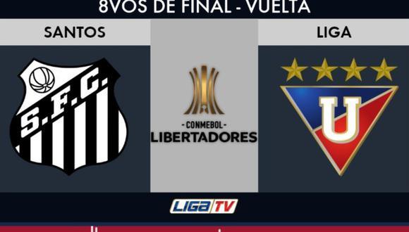 Liga de Quito vs Santos online en vivo por los octavos de la Copa Libertadores