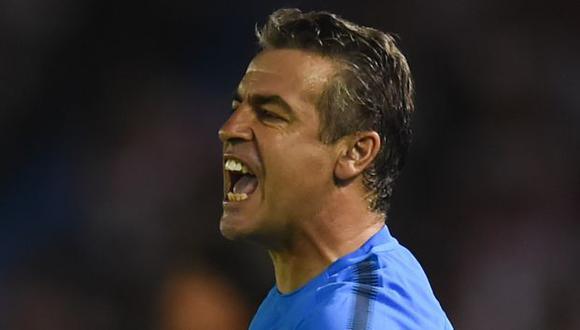Pablo Bengoechea guió a Alianza Lima al título el 2017 y fue subcampeón en el 2018 y 2019. (Foto: AFP)