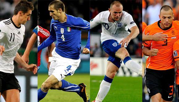 Alemania, Italia, Inglaterra y Holanda firmes hacia la Eurocopa 2012