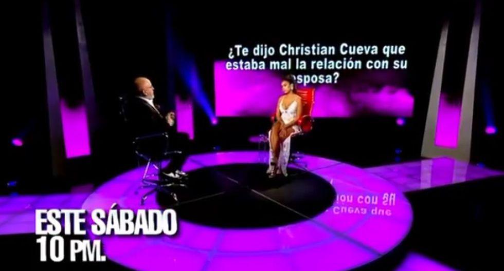 """Shirley Arica asegura en """"El valor de la verdad"""" que Christian Cueva se """"puso faltoso"""" con ella y la insultó. (Foto: Captura de video)"""