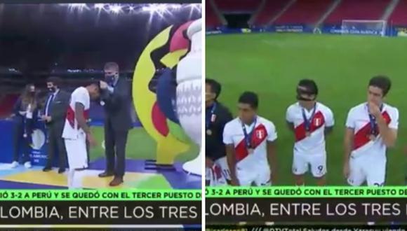 Periodistas de DirecTV criticaron que la Selección Peruana reciba medallas de cuarto puesto en la Copa América 2021. (Foto: Captura DirecTV).