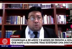 Comas: joven que asesinó a su madre fue condenado a 30 años de cárcel | VIDEO