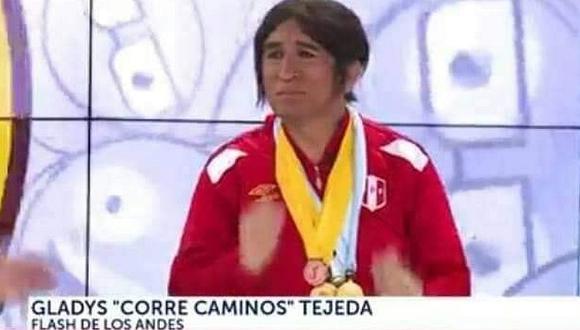 """Gladys Tejeda: Denuncian imitación de la deportista por ser """"estereotipada"""" y exigen disculpas públicas   FOTO"""