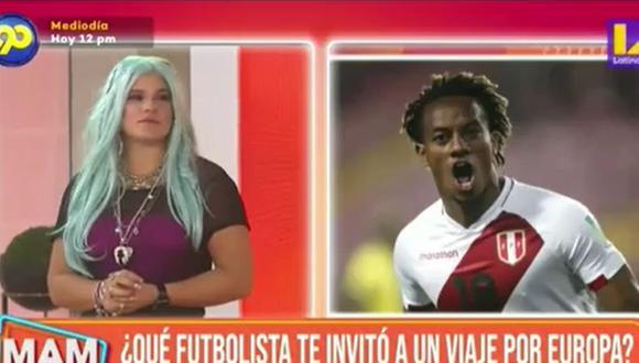 Macarena Vélez y su reacción al ser consultada por si un futbolista la invitó a un viaje por Europa. (Foto: Captura de video)