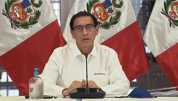 """""""Estoy seguro que vamos a mejorar en orden con la distribución del bono"""", señaló Martín Vizcarra. (Foto: TV Perú)"""