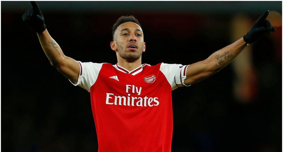Edad 30: Pierre-Emerick Aubameyang juega en Arsenal y está valorizado en 77,7 millones de dólares (Foto AFP)