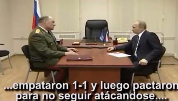 Parodia del presidente de Rusia al recibir el reclamo de Chile [VIDEO]