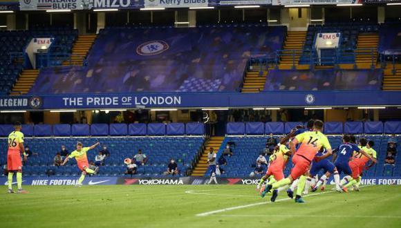 Kevin De Bruyne firmó el 1-1 parcial en el choque Chelsea-Manchester City. (Foto: AFP)
