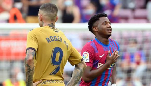 Ansu Fati volvió a jugar con Barcelona tras 322 días y anotó un gol. (Foto: AFP)