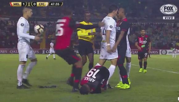 Así fue la bronca entre jugadores de Melgar y Caracas FC [VIDEO]