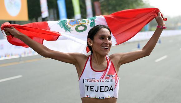 Gladys Tejeda va por su boleto a los Juegos Olímpicos de Tokio 2020 AFP PHOTO/HECTOR RETAMAL