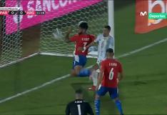 Ángel Di María falló en la línea el 1-0 de Argentina vs. Paraguay | VIDEO