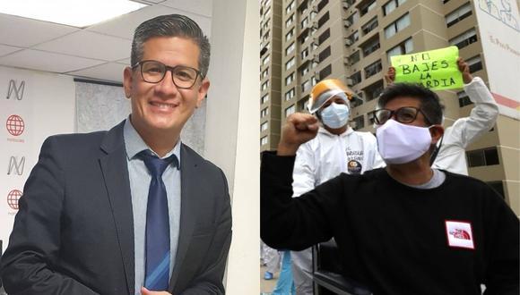 Erick Osores, periodista deportivo de América TV, venció el coronavirus, pero le detectaron otra enfermedad. (Foto: @erickosores/EsSalud).