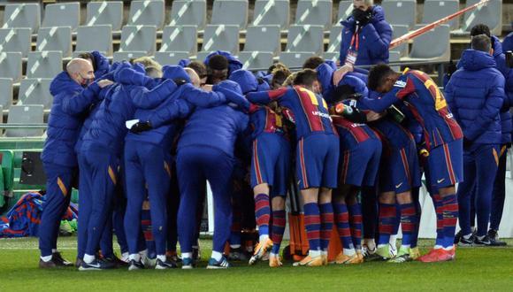 El equipo blaugrana espera al ganador del duelo entre Real Madrid y y Athletic Bilbao para conocer a su rival del domingo | Foto: AFP
